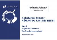Diagnostic territorial Volet socio économique